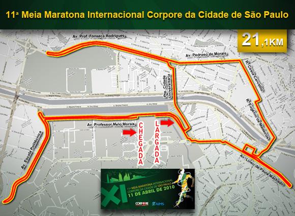 mapa de percursos Corpore   XI Meia Maratona Corpore Internacional   Mapas dos Percursos mapa de percursos