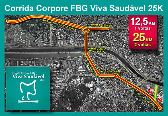 mapa de percursos Corpore   Corrida Corpore FBG Viva Saudável 25K   Mapas dos Percursos mapa de percursos